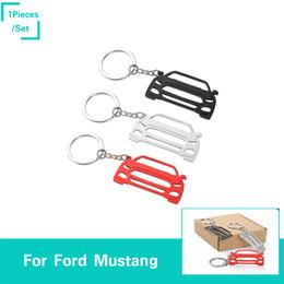 llavero coche ford Rebajas Aleación de aluminio Coche Llavero Decoración Mustang Modelo 3 Color Fit For Ford Mustang Auto Interior Accesorios