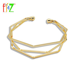 Wholesale Irregular Bangle - Fashion Design Golden Silver Black Copper Bangles Layered Irregular Adjustable Cuff Bracelets For Women Couro Pulseiras De Couro