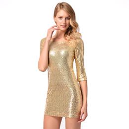 Wholesale sexy slimming mini skirt - 2018 New women's sexy slim mid sleeve hip skirt beaded dress dress skirt