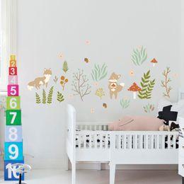 Schon 2018 Baby Schlafzimmer Wandbilder DIY Wandaufkleber Schöne Fuchs Für  Kinderzimmer Abnehmbare Art Vinyl Wandbild Wandtattoo Baby