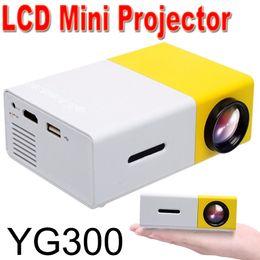 sintonizador hdmi lcd tv Rebajas YG300 LCD LED Proyector portátil Mini 400-600LM Audio de 3.5 mm Medios LED Lámpara Reproductor Reproductor HDMI USB Mejor protector para el hogar Cuna Diseño XTY-1