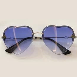 óculos de sol em forma de coração sem moldura Desconto Marca Designer Mulheres Óculos De Sol Do Coração Forma Óculos De Sol Sexy Shades Óculos De Sol Sem Moldura Com Caixa