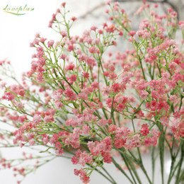 Wholesale Gypsophila Plant - Wholesale-Zinmol 1PC DIY Artificial baby's breath Flower Gypsophila Fake Silicone plant for Wedding Home Party Decorations 5 Colors