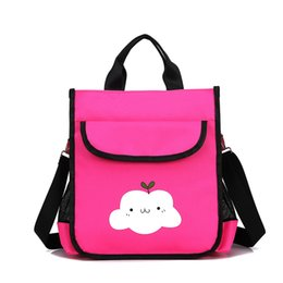 3e246cb18165 Women Handbag Cute Girl Tote Bag Cartoon Printing Cloud and Cat Bag Lady Shoulder  Small Capacity Fashion Messenger Pink