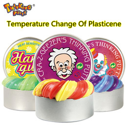 Wholesale Color Change Lights - Thinking Putty Intelligent Creative Hand Gum Temperature Change Turns Color Slime Putty light Clay Fimo Plasticine Modeling Mud Doh Dough