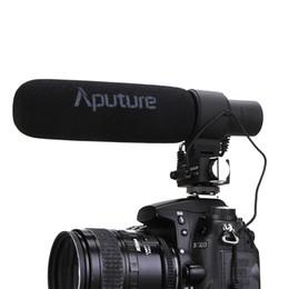 Aputure V-Mic D2 Sensibilidad Micrófono de video de escopeta de condensador direccional ajustable para Nikon Canon Cámara Sony Pentax DSLR desde fabricantes