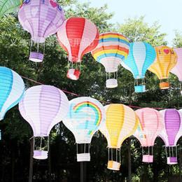 Balões decorativos de casamento on-line-Novo Criativo Colorido Dobrável Balão de Ar Quente Cor Lanterna Cerimônia De Casamento Decorar Lanternas De Papel Festa de Aniversário Essencial 3 9bh2 aa