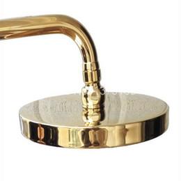 "Wholesale Luxury Shower Accessories - 8"" ( inch ) Luxury Gold Polished Brass Round Shape Bath Rainfall Shower head   Bathroom Accessory (Standard 1 2"") ash043"