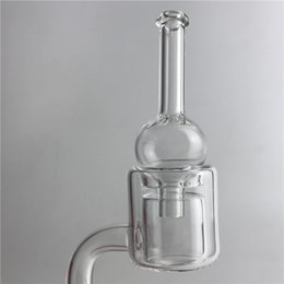 Wholesale Clear Pillars - Quartz Thermal Banger Pillar Nail with 10mm 14mm Male Female Clear XL XXL Double Thick Walls Bubble Carb Cap for Glass Water Pipes