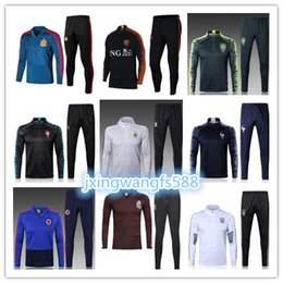 Wholesale men mixed shirt - 2018 World Cup football shirts Tracksuit jacket thai quality 18 19 chandal soccer Training suit new maillot de foot accept mixed orders