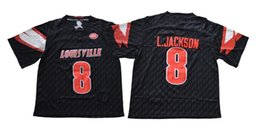 cardenales jerseys negro Rebajas 2018 NCAA College Football Louisville Cardinals Jerseys 8 Lamar Jackson Jersey Inicio Negro Tamaño S M L XL 2XL