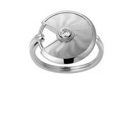 Imitaciones joyas online-AMULETTE DE C-RING Francia marca HIGH VERSION S925 Sterling Silver Mujeres anillo de bodas anillos de boda Lujo Imitación joyería Super Textured!