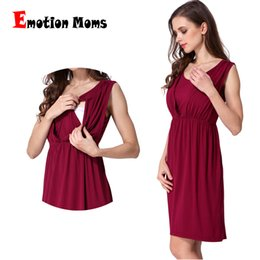 0217a9e3475 Emotion Moms V-Neck Summer maternity clothes Maternity Dresses  Breastfeeding Clothes For Pregnant Women Nursing pregnant dress