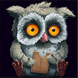 Wholesale hand eye coordination - Owl Design DIY 5d Diamond Painting Creative Special Cross Stitch For Kids Adults Hand Eye Coordination Puzzle Props Hot Sale 16rh2 Z