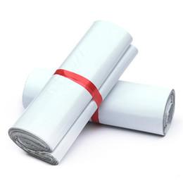 Bons plastiques en Ligne-Bonne Qualité 28x42cm Blanc Mailer Sacs Autocollant Mailbag Enveloppe En Plastique Courrier Postal Sacs Autocollant Auto-Adhésif Express Poly Sac 50pcs