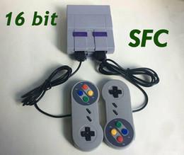 Wholesale Good Systems - 16bit Classic SFC TV Handheld Mini Game Console Good Quality 16 bit Game System For 16bit 94 SFC NES SNES Games Consoles