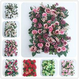 2019 3d rosa flor pano de fundo Europeu 40X60 cm Artificial Silk Rose 3D Fundo Da Parede Da Flor com Planta Verde Festa de Casamento Decoração Fotografia Cenário Flores Parede desconto 3d rosa flor pano de fundo