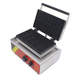 NP-533 Commerciale 10 pz piazza macchina per cialde elettrica waffle maker forno piccolo waffle torta macchina spuntino attrezzature cafe da