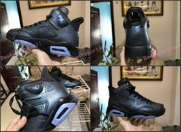 Wholesale Cat Stars - 6 VI black infrared Alternate All Star Maroon black cat Carmine basketball shoes VI 6s men sports shoes athletics Footwear Boots