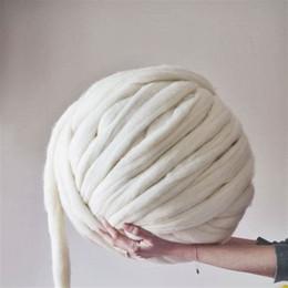Wholesale Finger Knitting - 2.2 lbs Giant Yarn Merino Wool Super Chunky Yarn Bulky Roving Yarn for Finger Knitting,Crocheting Felting,Making Rugs Blanket Crafts