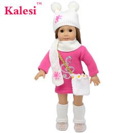 2019 18 шт. комплект 6 шт 18 дюймов девушка одежда аксессуары кукла свитер платье шляпа сумка - 18 дюймов кукла одежда аксессуары набор дешево 18 шт. комплект