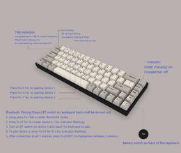 Wholesale 68 Led - Bluetooth mini 68 keys mechanical keyboard BT portable cherry switches white LED dyesub PBT keycap tada68 pro programmable