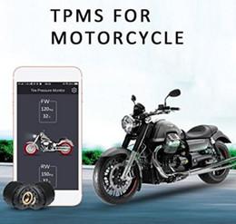 Deutschland KUNFINE Bluetooth Reifendruckkontrollsystem für Motorräder TPMS-Handy-APP-Erkennung 2 externe Sensoren Versorgung