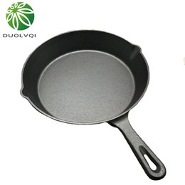 Wholesale Iron Stones - Duolvqi Black Mini Not Sticky Casting Iron Pan Stone Layer Frying Pot Saucepan Small Fried Egg Pot Use Gas And Induction Cooker