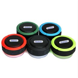 Wholesale Universal Usb Battery - Waterproof Bluetooth Speaker Shower Speaker C6 with Strong Driver Long Battery Life and Mic and Removable Suction Cup in Retail Package