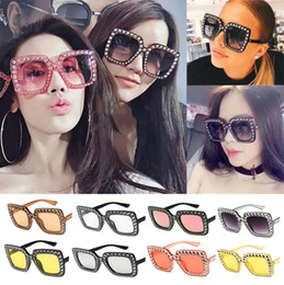 a967c49768b Vintage Oversized Square Frame Bling Rhinestone Sunglasses Luxury Brand  Crystal Women Fashion Shades Bling Sunglasses 120pcs T1C149 inexpensive  sunglasses ...