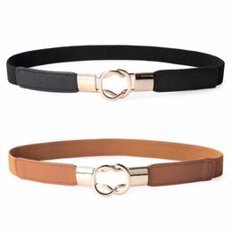 025196f3401a Alta qualità 3 colori moda donna PU nero bianco vita banda sottile cintura  elastica cintura abito accessori vendita calda accessori per abito bianco  nero ...