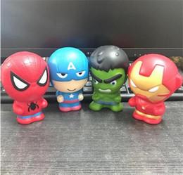 Squishy Cartoon Avengers Marvel Heros Juguetes Squeeze Slow Rising Iron Man Spiderman Capitán América Squishy Toy para niños desde fabricantes
