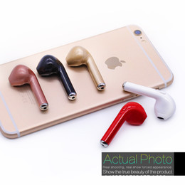 Wholesale Invisible Bluetooth Headphones - HBQ I7 mini Bluethoot Headphone Twins TWS Earbud Earphone Wireless Invisible Headphone Headset Mic CSR4.1 Stereo Upgraded for iphone Android
