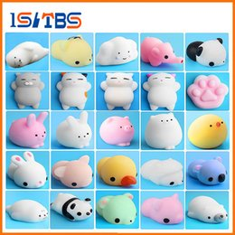 Wholesale Cute Houses - 2018 Hot Sale Cute Mochi Squishy Cat Squeeze Healing Fun Kids Kawaii Toy Stress Reliever Decor car house show window cafe Toys