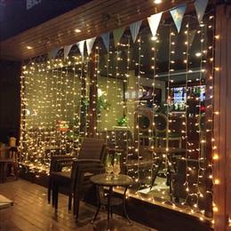 Argentina Luz de la cortina 3Mx2M 4Mx2M 6Mx2M 8Mx2M 10Mx2M LED Luces de cadena Navidad Luces de hadas Hogar para la boda / Fiesta / Cortina / Decoración de jardín Suministro