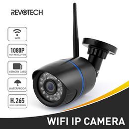H.265 WIFI 1920 x 1080P 2.0MP Telecamera IP esterna 24 LED Night Vision Telecamera di sicurezza CCTV impermeabile ONVIF w / Slot scheda SD cheap outdoor cameras sd slot da slot per videocamere esterne sd fornitori
