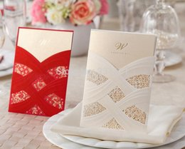 Canada En gros-50 pcs / ensemble 2014 automne nouvellement arrivée enveloppe libre et joint libre Invitation de mariage carte de poche CW060 076 cheap invitation pockets wholesale Offre