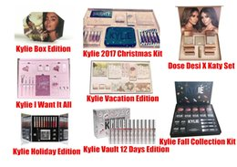 Wholesale Mixed Boxing - Newest Kylie Lip Kit by kylie jenner Velvetine Liquid Matte 12 Days Vault Makeup Holiday Big Box I WANT IT ALL The Birthday Collection Gift