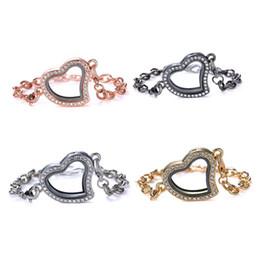 5 PCs Magnétique Coeur Flottant Médaillons Bracelet Avec Strass En Verre Mémoire Vivante Mémoires Bracelets Pour Femmes DIY Charms Bijoux ? partir de fabricateur