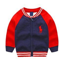 Abbigliamento per ragazzi online-Nuovi vestiti per bambini in cotone maglione per bambini di alta qualità capispalla per bambini ragazza maglione ragazzo maglione con scollo av maglioni cappotto