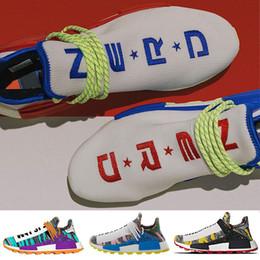 Scarpe di terra online-Creme Nerd Solar Pack PW Hu Scarpe da corsa Human Race Pharrell Williams Empower and Inspire Milele Mbele Mother Sports Sports Sneakers 5-11
