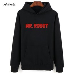9c849e1ef26 hot Mr Robot Gray Black Hooded Sweatshirt Men Hip Hop in Winter Warm Autumn  Style Mens Hoodies and Sweatshirts Oversized D18100705