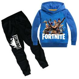 Argentina Juego Fortnite Hoodies Trajes Niños Niños Battle Royale Sudadera Chándal 2pcs Conjuntos de manga larga T Shirt Suéter + Pantalones deportivos regalos Suministro