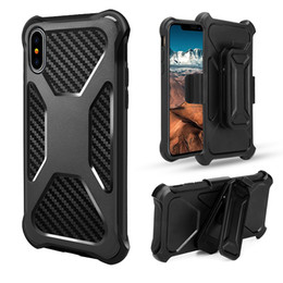 Wholesale heavy leather belt - Transformer Stand Heavy Duty Holster Belt Clip Hybrid Impact Armor Case For iPhone X 8 7 6 Samsung S8 S9 Plus Note Note8 J3 Prime J7 2017
