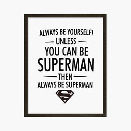 Wholesale quotes movies - Free shipping Batman Movie Quote Modern Wall Painting Giclee Print Batman Canvas Wall Art Poster Wall Pictures For Living Room Home Decorati