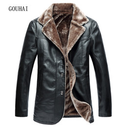 Wholesale Mens Leather Top Coat - Wholesale- 2017 New Mens Winter Jacket Men Casual Solid PU Leather Jacket Men Leather Jackets Male Coat Warm Plus Size L-4XL Top Quality