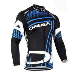 Jersey longo orbea on-line-2018 Orbea Pro Equipe Homens ciclismo jersey Maillot Ropa ciclismo MTB bicicleta respirável de secagem rápida roupas de manga longa bicicleta desgaste