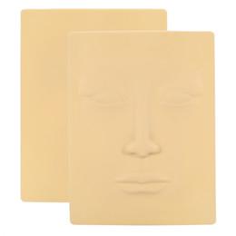 Постоянные косметические брови онлайн-3D Silicone Face Tattoo Practice Skin Cosmetic Permanent  Microblading Training Silicone Eyebrow Eye Practice Skin