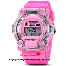 Relojes deportivos de plástico online-2016 Venta Directa Nueva Llegada de Aleación de Plástico Relojes Shhors 30 m Banda Impermeable de Cuarzo Reloj Deportivo Reloj Reloj 750