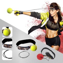 Équipement de vitesse en Ligne-Nouveau équipement de boxe pour balles de combat avec serre-tête pour entraînement de vitesse réflexe Balles de boxe de boxe Muay Thai